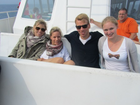 Whale watching with Ligia, Antonia, Tobias and Ann-Christin